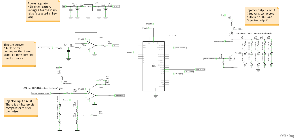 CBR125R ECU schematics