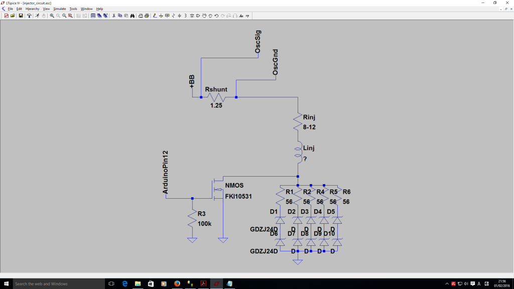 ECU injector output circuit