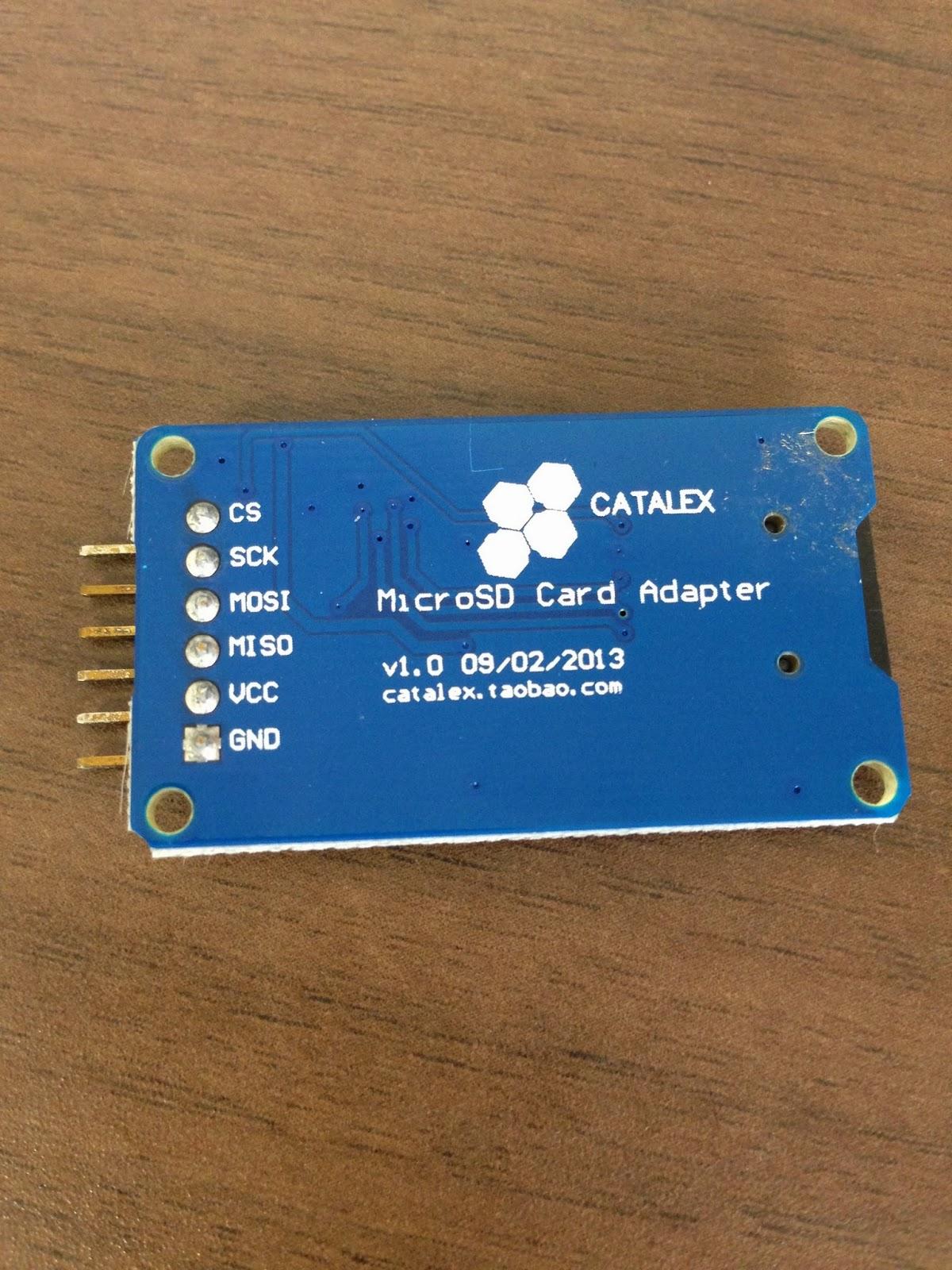 Arduino/Genuino 101 and SD card module - Monocilindro Blog