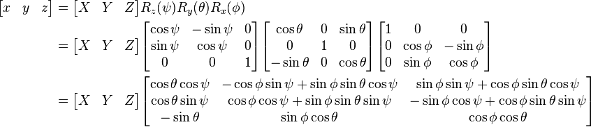 Calculating Tait Bryan angles by acceleration and gyroscope