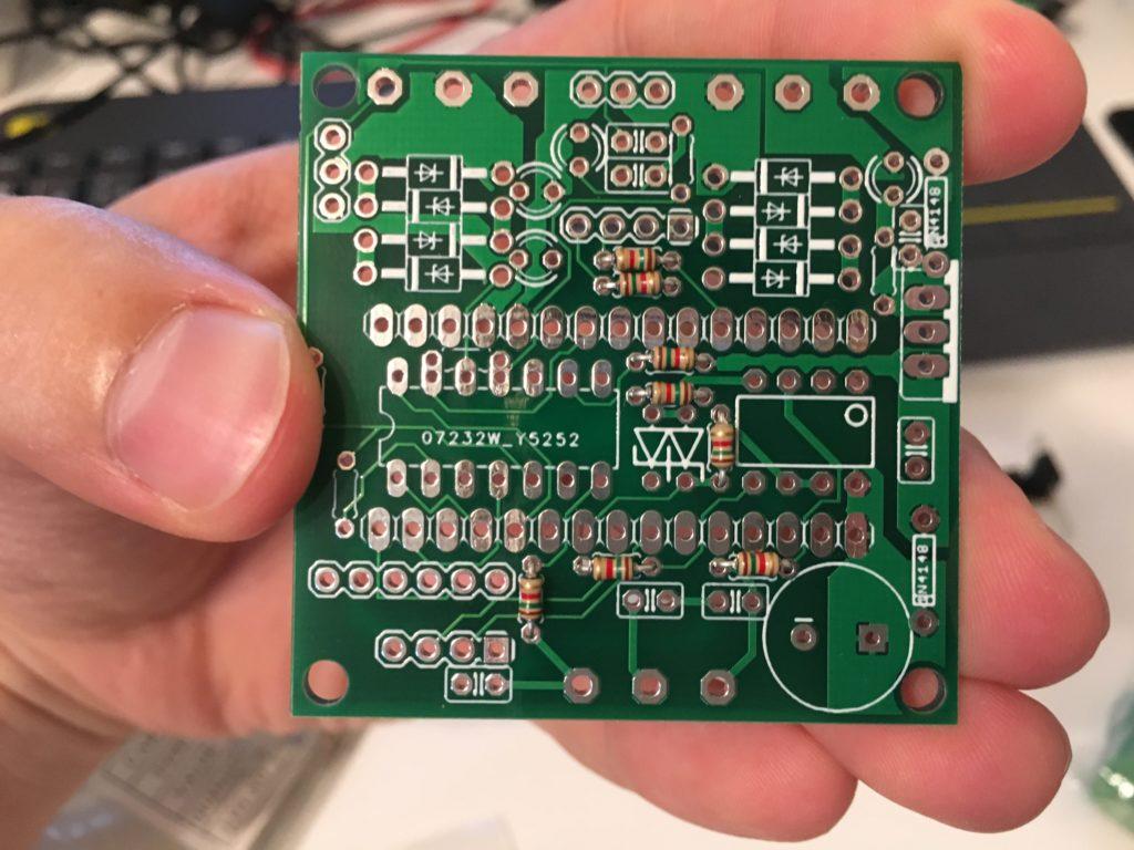 Fuelino proto2 PCB soldering 1