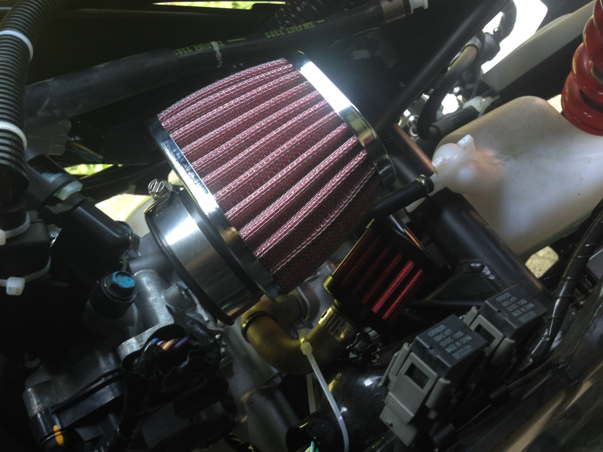 How to put a conical air filter on a Honda CBR125R