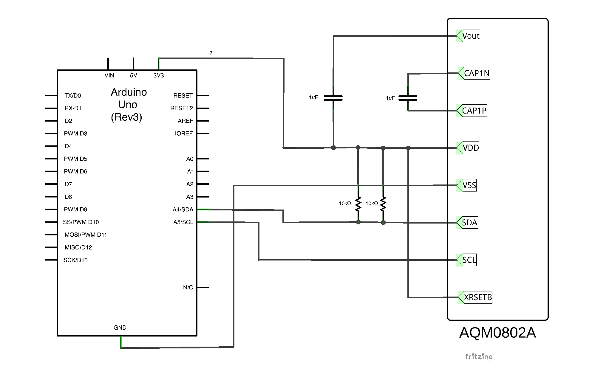 Connecting An I2c Lcd Display To Arduino 101 Monocilindro Blog Wiring Sitronix St7032