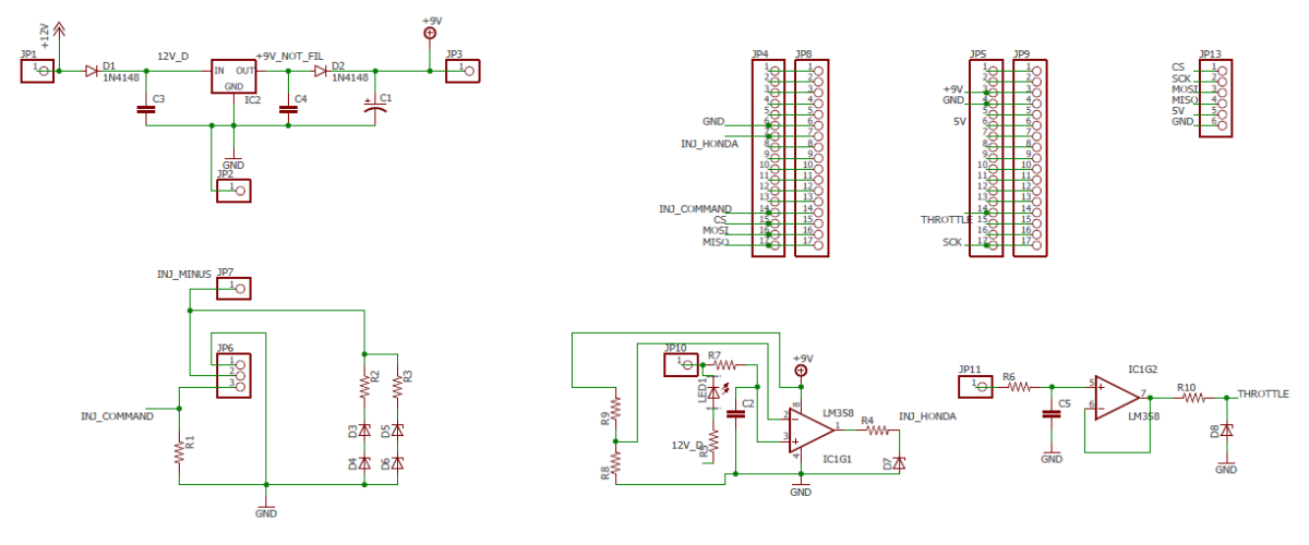 Fuelino proto1 schematic and board