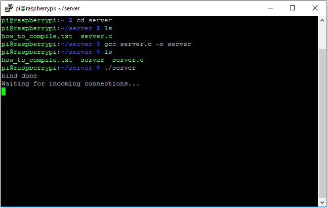 How to run a C++ TCP/IP server on Raspberry Pi