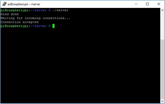Raspberry Pi 3 B TCP IP socket C language 3
