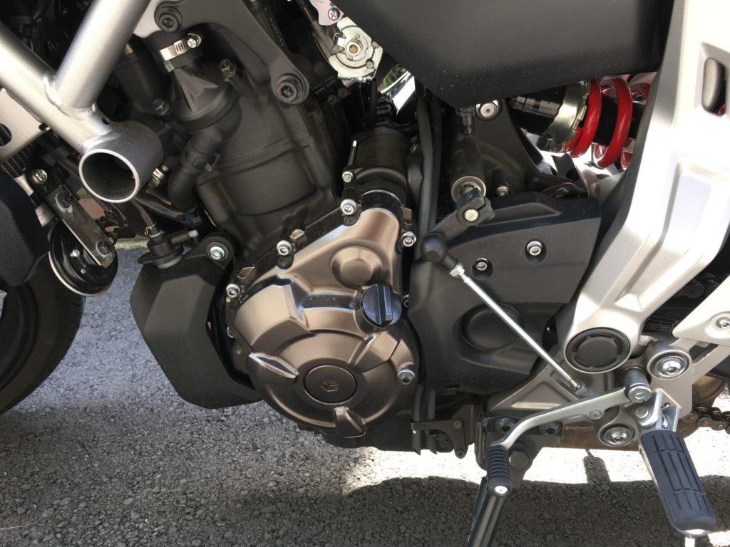 Yamaha MT-07 gears pedal