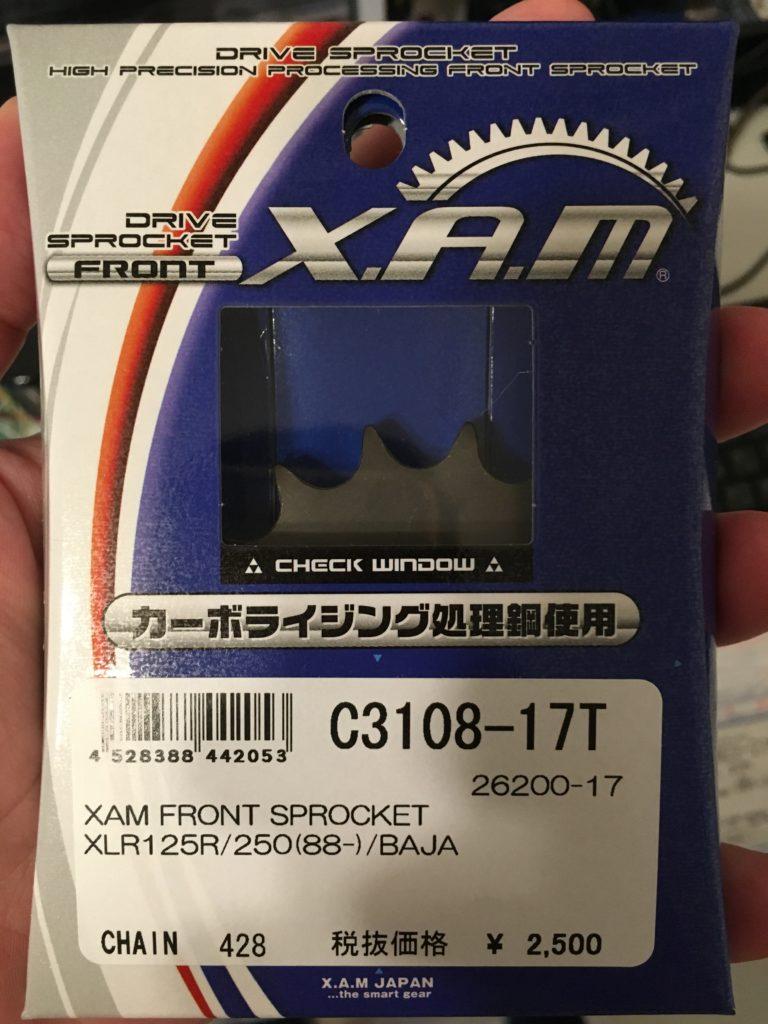 XAM C3108-17T sprocket Honda CBR125R 2