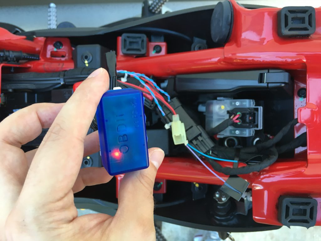 ELM327 Bluetooth OBD2 Ducati Monster 797