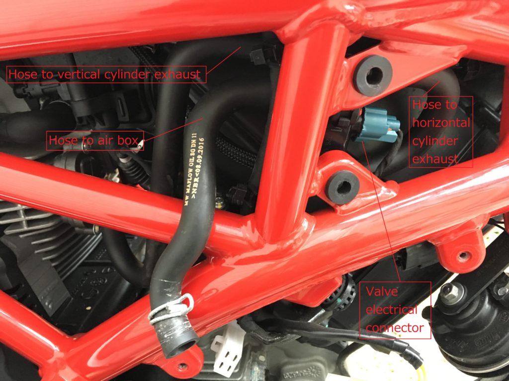 Ducati Monster Scrambler SAI removal 3